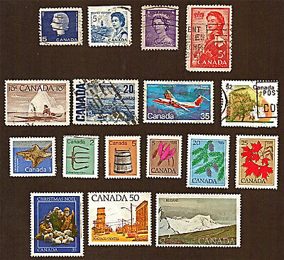 CANADA 17 1953-95 ROYALTY, ARTIFACTS, TREES, PARKS +Stamps Used SeeDescr  FUS745