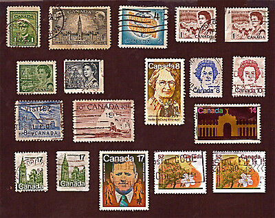 CANADA 18 1942-95 QUEEN ELIZ & KING GEORGE, TREES +Stamps, Used SeeDescr  FUS725