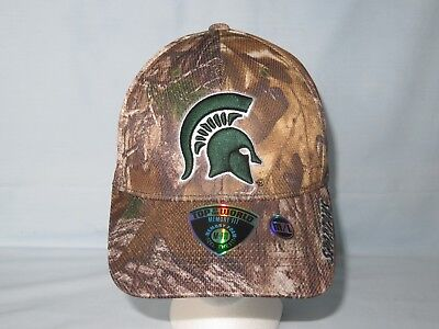 promo code b1782 1db23 MICHIGAN STATE SPARTANS Memory Fit Camo CAP HAT T.O.W Size Medium Large NWT   30