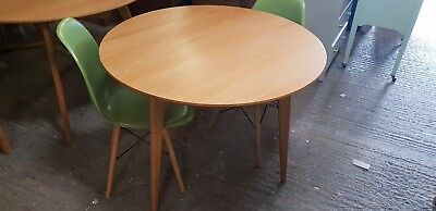 Retro Scandinavian Style Circular Oak Dining Table 915Mm Delivery Available