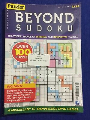 puzzler Beyond sudoku no.91 2018 (brand new pack)