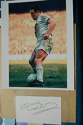 Spurs Dave Mackay Signed Card Plus  Photo 10X8 Photo