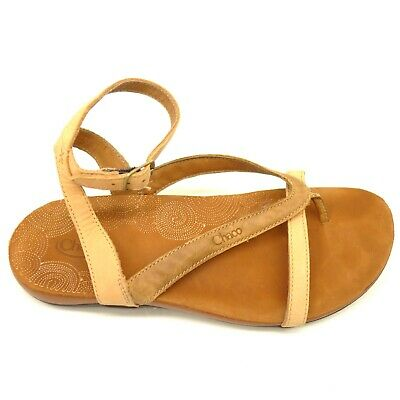 deda4828eed1 CHACO WOMEN S SOFIA Leather Ankle Strap Sandals Sz 9 Adobe Brown ...