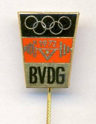 1972 MUNICH Olympics GERMAN Weightlifting Team PIN BADGE Olympic Games GERMANY