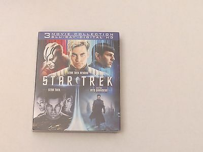 Star Trek Trilogy Collection [Blu-ray, Digital Collection] New Sealed