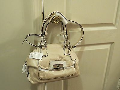 Coach Kristin Leather Domed Satchel Shoulder Bag # 19304 Champagne New With Tag