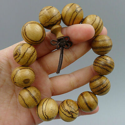Natural Sandalwood Bracelets Bangle Crafts Handmade Jewelry Wood DIY Beads Charm