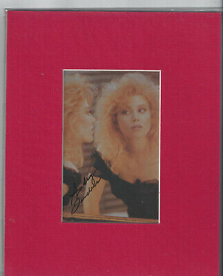 """AUDREY LANDERS HAND SIGNED / AUTOGRAPHED 3""""x5""""COLOR IMAGE MATTED FOR8""""x10"""" FRAME"""