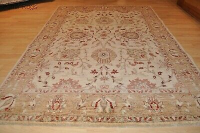 ON SALE FINE PERSIAN MAHAL 5x7 ft. muted & soft beige gray green blue colors