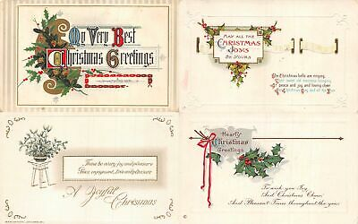 Lot of 15 Early Christmas Greetings & Poems Postcards #138031 R