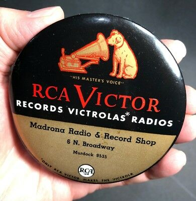 RCA Victor Record Cleaner Celluloid Madrona Murdock Calif ? Oregon? Nipper Dog