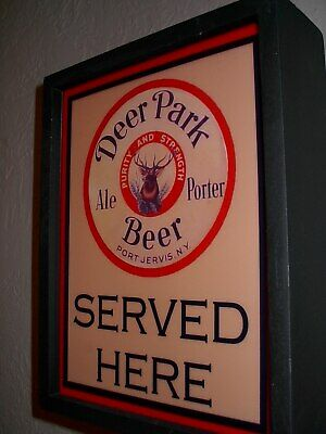 Deer Park New York Beer Bar Man Cave Lighted Advertising Sign