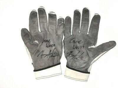 6abf6086990 Henry Anderson New York Jets Game Worn   Signed Nike Gloves - Led Team In  Sacks