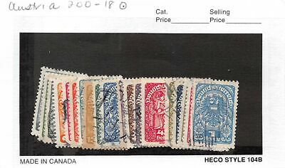 Lot of 61 Austria Used Stamps #130053 R