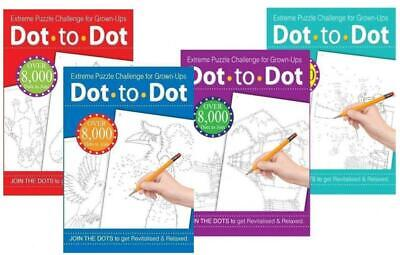 Dot To Extreme Puzzle Drawing Book Challenge for Grown-Ups Adults Assorted...