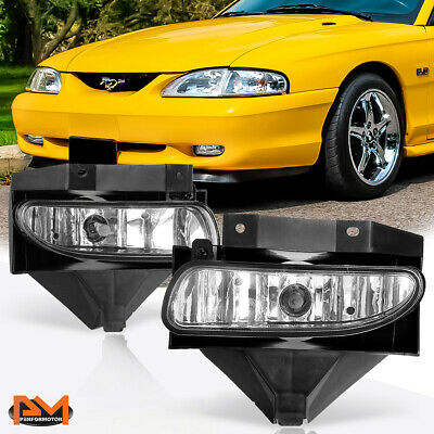 1999-2004 FORD MUSTANG V8 GT BUMPER SMOKE DRIVING FOG LIGHTS LAMP+10000K HID L+R