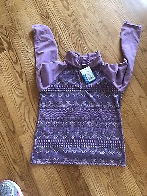 NWT.columbia  Glacial 11 Fleece Half Zip Shirt Size Youth XL Boho Retro