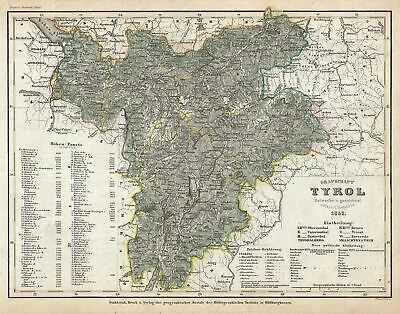 1852 Meyer Map of the County of Tyrol