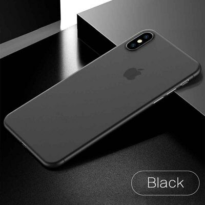 Luxury Ultra Thin Slim Matte Transparent PP Hard Case Cover For iPhone XS Black