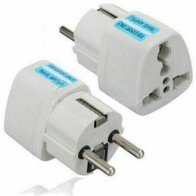 Travel Portable Converter UK US AU to EU European Power Socket Plug Adapter 1PC