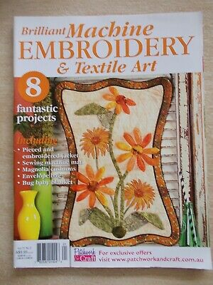 Machine Embroidery & Textile Art Vol 21 #3~Quilts~Cushions~Envelope Bag~Jacket