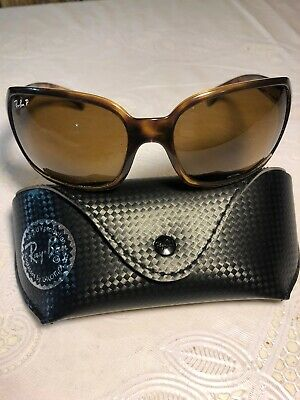 a40a612d82 Ray Ban Polarized Brown Classic B-15 Ladies Sunglasses RB4068 642 57 60-