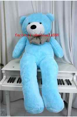 63'' Giant Big Blue Teddy Bear Huge Plush Soft Toys Doll Stuffed Animals Gift US