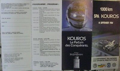 * 1000 Kilometres Spa Francorchamps 1986 racing programme folder  *