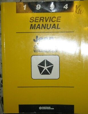 * JEEP Cherokee Wrangler 1994 Service  Manual English apprx. 1000 pages *