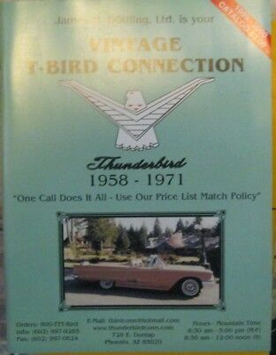 * Ford Thunderbird Parts Catalogue 1958-1971 James H.Dötting 1999-2000 issue *