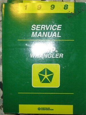 * JEEP  Wrangler 1998 Service  Manual English approx. 1000 pages *