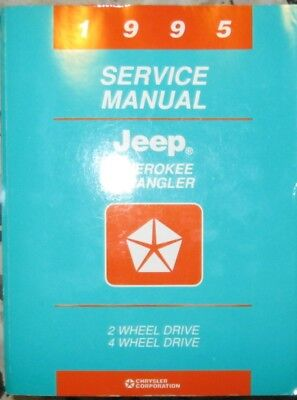 * JEEP Cherokee Wrangler 1995 Service  Manual English approx. 1000 pages *