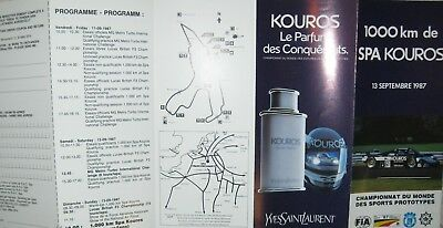 * 1000 Kilometres Spa Francorchamps 1987 racing programme folder  *