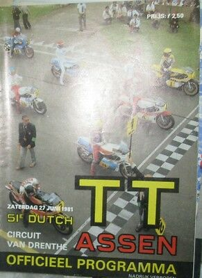 * Dutch TT Assen - Official Race - Programme  1981 *