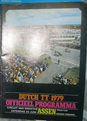 * Dutch TT Assen - Official Race - Programme  1979 *