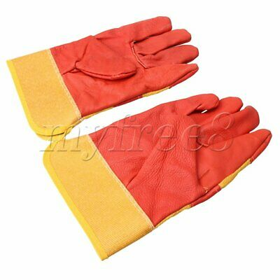 2 PCS Electric Leather Welder Welding Gloves Hands Protection for Industrial