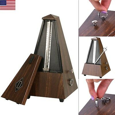 Antique Vintage Wood Mechanical Metronome Tempo Music Timer Classical Wooden USA