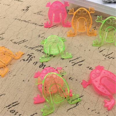 10PCS Jumping Frog Hoppers Game Kids Party Favor Kids Birthday Party Toys EC