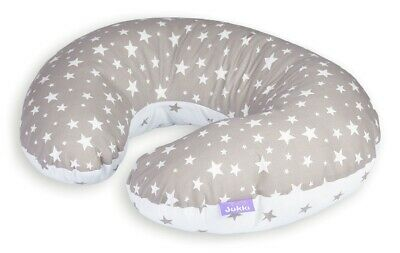Baby Breast Feeding Pillow Nursing Maternity Pregnancy Stars Grey