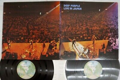 DEEP PURPLE LIVE IN JAPAN WARNER P-5506,7W Japan VINYL 2LP