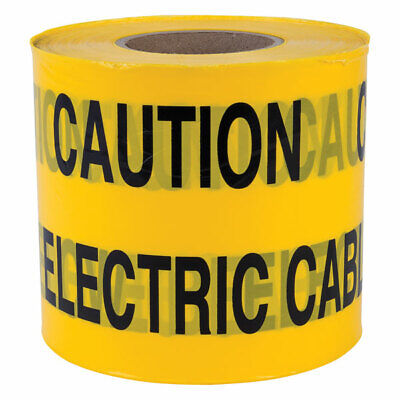 """""Caution Electric Cable Below"""" Non Adhesive Tape 150mm x 365m"
