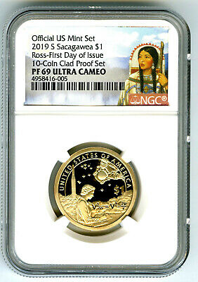 2019 S $1 Sacagawea Mary Ross Proof Ngc Pf69 Uc First Day Issue Dollar Portrait