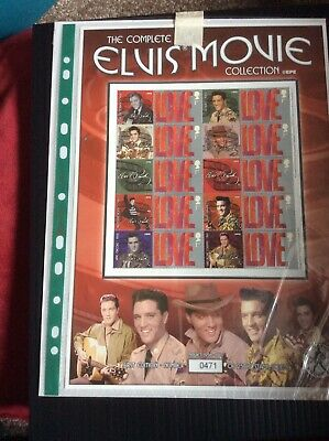The Complete Elvis Presley Movie Collection Collectible Stamp Sheet BC037