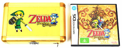 Nintendo DS The Legend Of Zelda Game + Phantom Hourglass RARE Hard Case 3ds 2ds