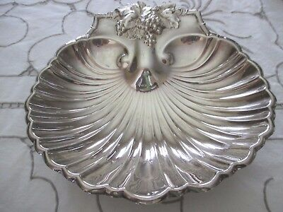 """Vintage NEW REED & BARTON Silverplate #209 Footed Scallop Serving Dish Bowl  9"""""""