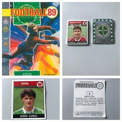 PANINI FOOTBALL 89 Stickers. Complete your set, 1, 2, 3, 4, 5,10,15,25 available