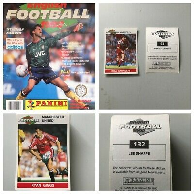 PANINI FOOTBALL 92 Stickers. Complete your set, 1, 2, 3, 4, 5,10,15,25 available