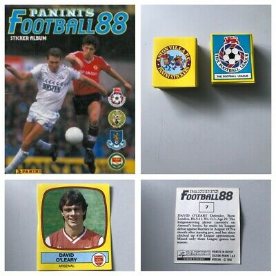 PANINI FOOTBALL 88 Stickers. Complete your set, 1, 2, 3, 4, 5,10,15,25 available