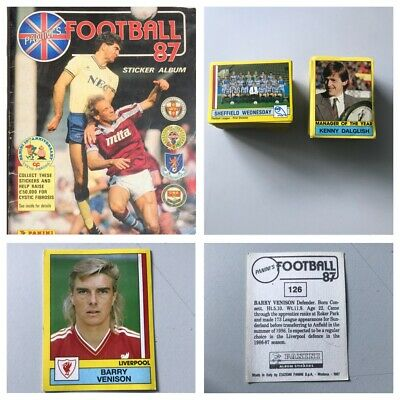 PANINI FOOTBALL 87 Stickers. Complete your set, 1, 2, 3, 4, 5,10,15,25 available