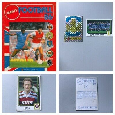 PANINI FOOTBALL 86 Stickers. Complete your set, 1, 2, 3, 4, 5,10,15,25 available
